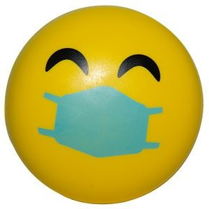Happy PPE Emoji Squeezies® Stress Reliever