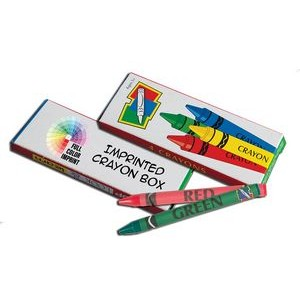 Crayons - 4 Pack Box - Blank