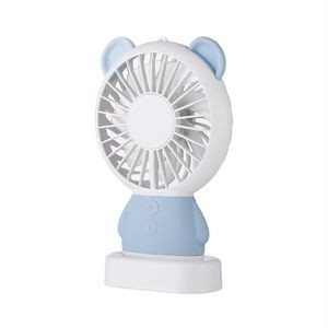 Cartoon LED Rechargeable USB Fan with Lanyard