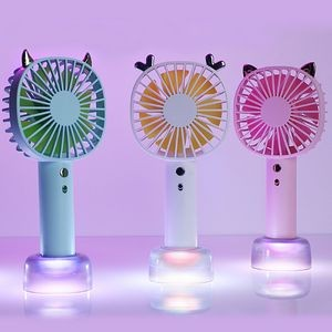 Portable Handheld Fan with LED Light