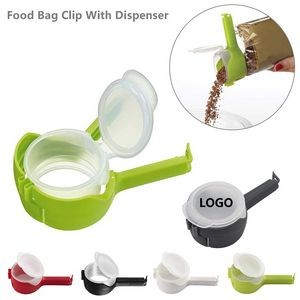 Food Bag Dispenser With Sealing Clip