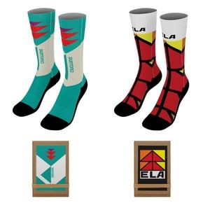 "18"" Dye-Sublimated Socks (Pair) w/Tri-fold Packaging"